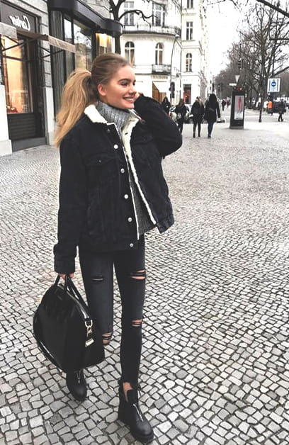 black-denim-jacket