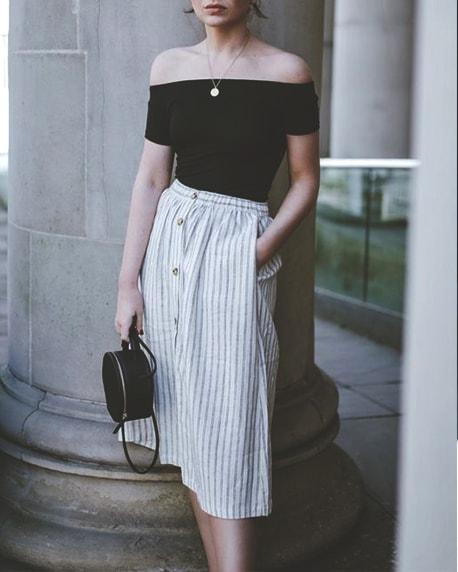 jean-skirt