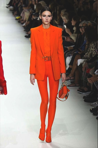 orange-dress-versace