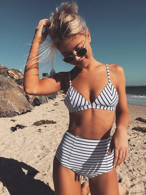 striped-two-piece-swimsuit