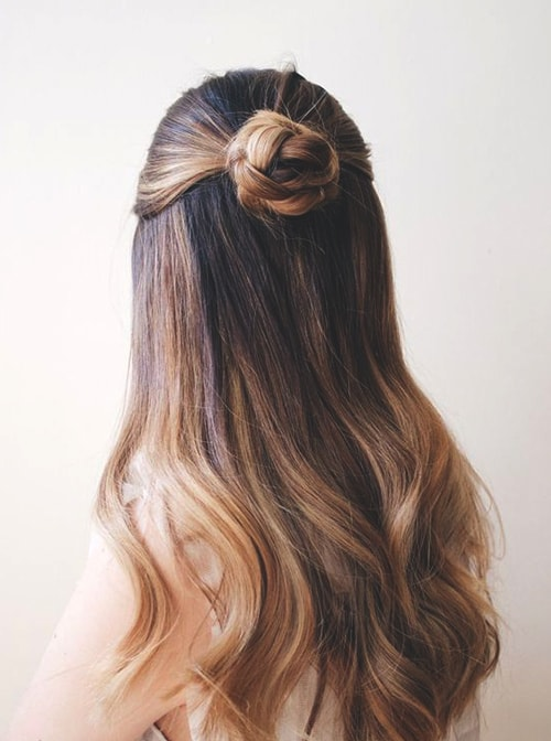 half-up-bun-wedding-hairs