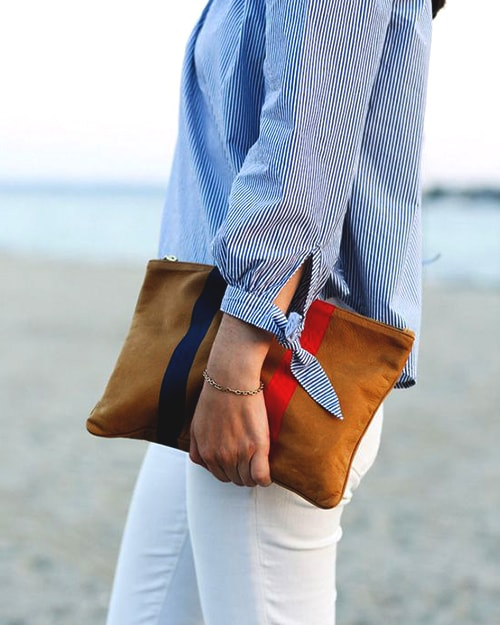 striped-brown-clutch-bag