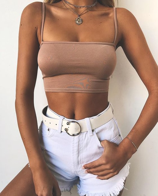 white-belted-jean-short