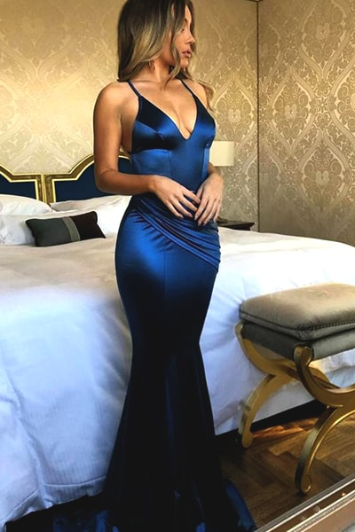 blue-navy-satin-mermaid-prom-dress