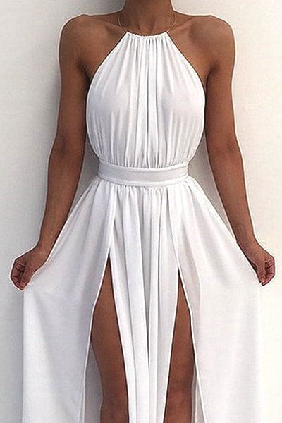 halter-neck-white-prom-dress