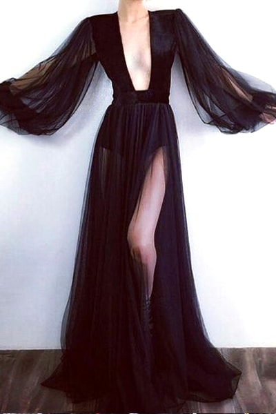 sheer-black-long-prom-dress