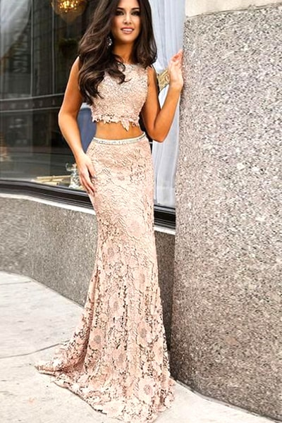 two-piece-lace-prom-dress
