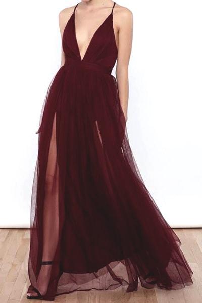 v-neck-prom-dress