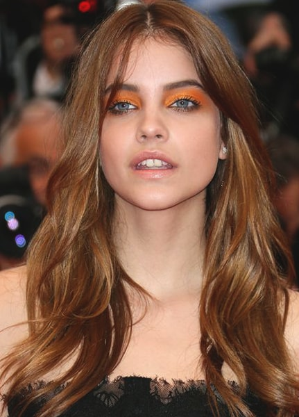barbara-palvin-orange-eye-shadow-look-min