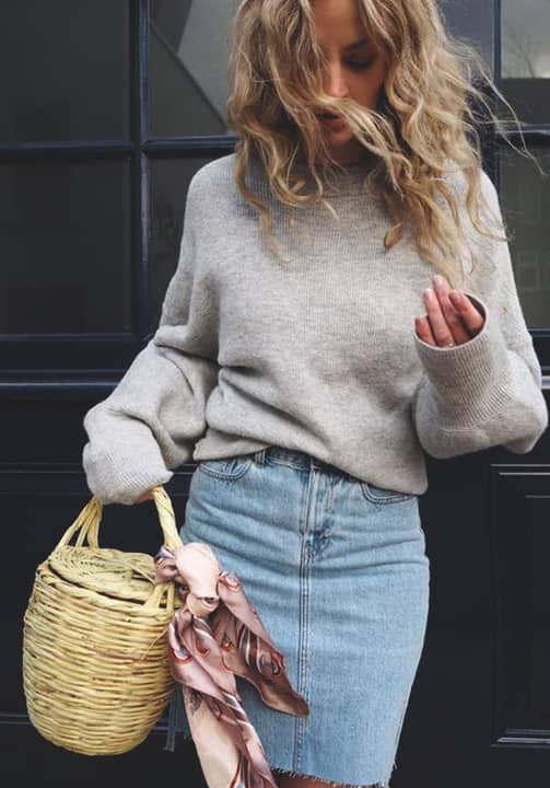 denim-skirt-grey-basic-sweatshirt-fall-clothes-min