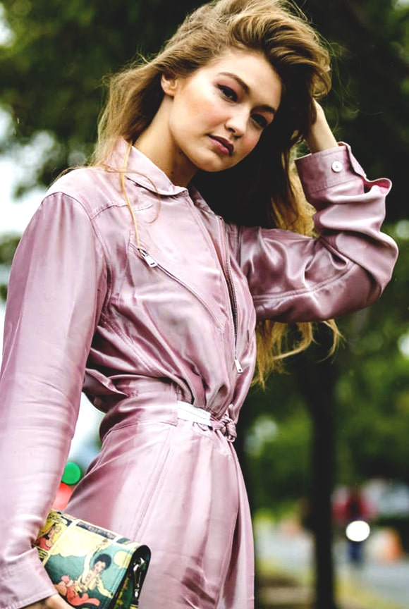 gigi-hadid-baby-pink-trench-coat-at-nyfw-street-style-min