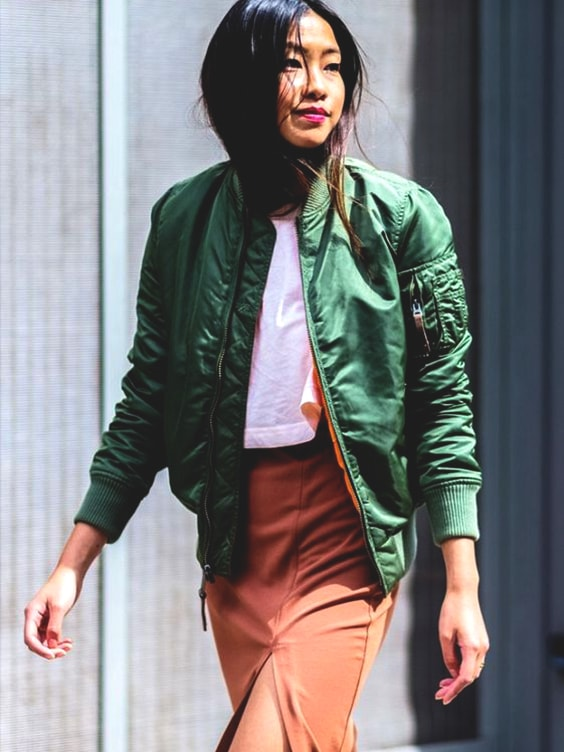 green-bomber-jacket-fall-school-fashion-trends