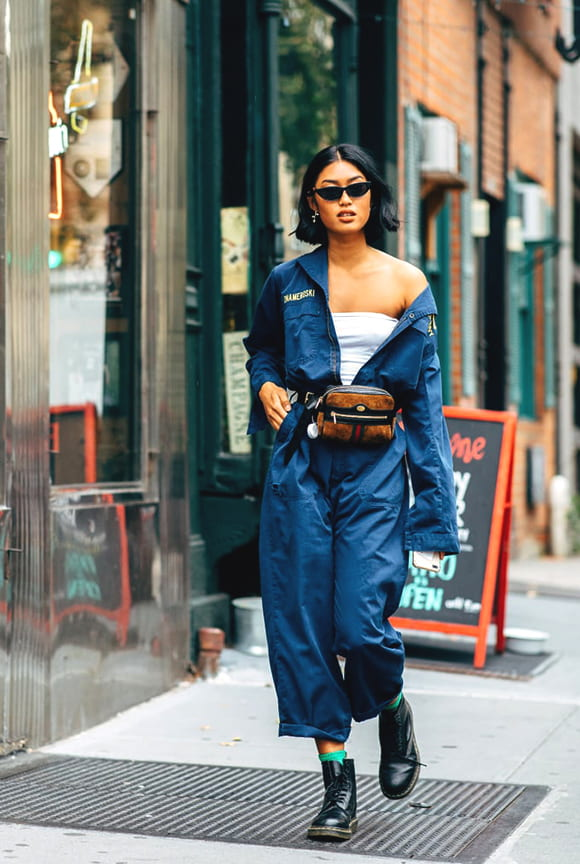 jumpsuit-blue-one-off-the-shoulder-outfit-street-style-in-nyfw-spring-2019-min