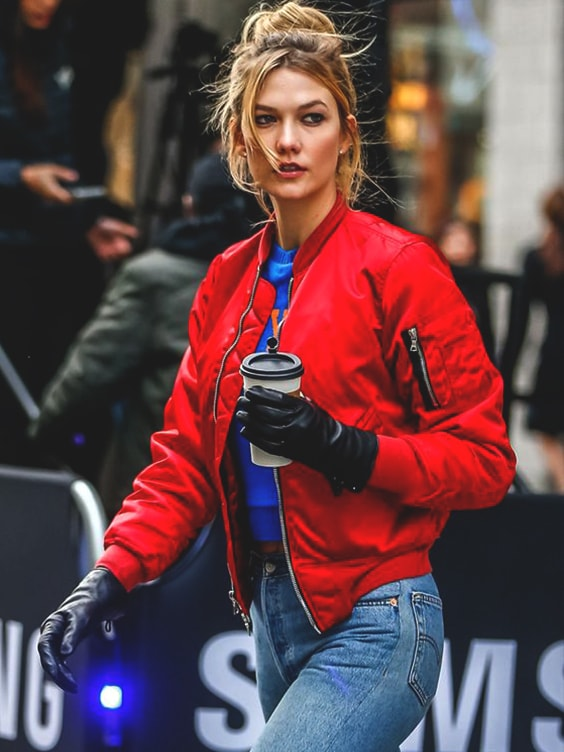 karlie-kloss-red-bomber-jacket-street-style-fashion-fall-outfits