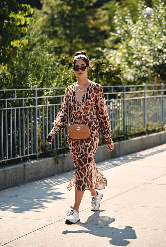 leopard-pattern-sheer-dress-khaki-bag-outfit-from-nyfw-street-style-min