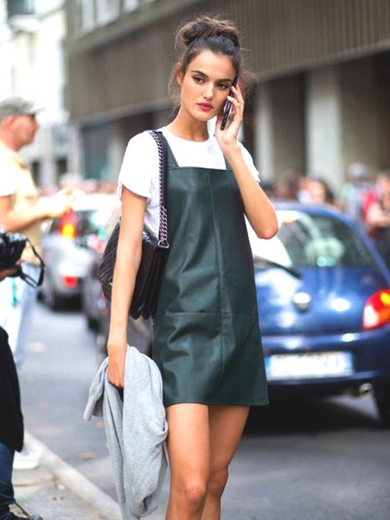 plain-white-tee-leather-dress-fall-fashion-ideas-for-school