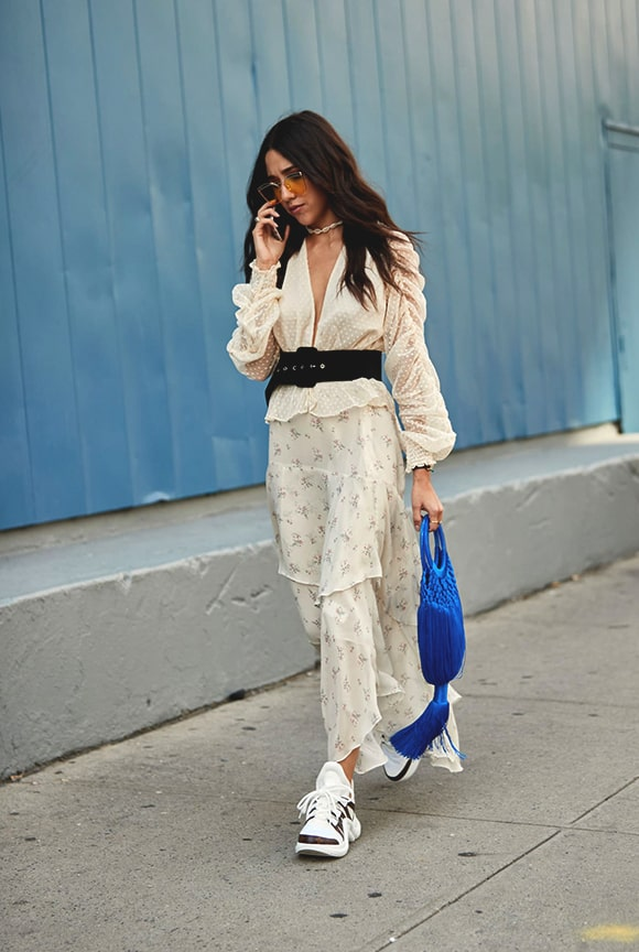 dress and sneakers style 2019