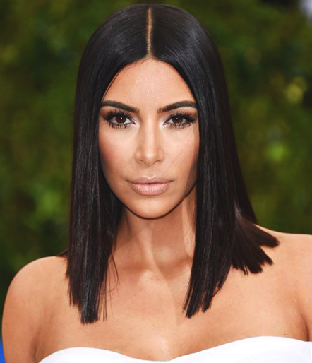 straight-lob-haircut-kim-kardashion-hairstyle-trend-2018