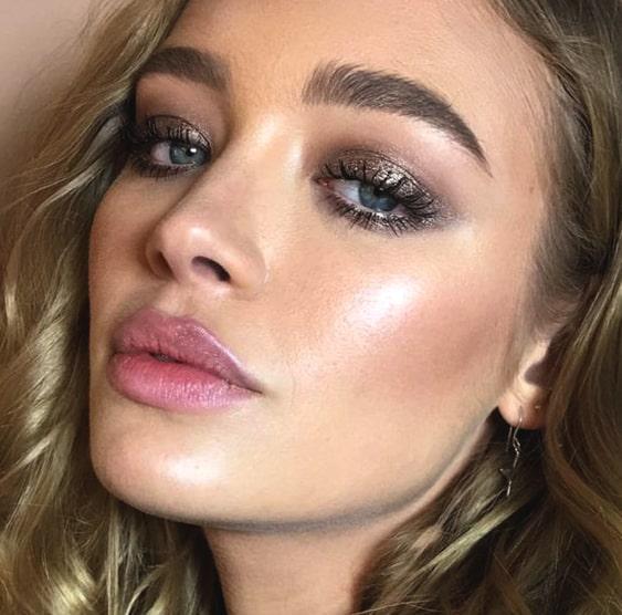 metallic-gray-smokey-eye-makeup-looks