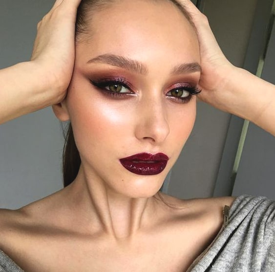 purple-pink-smokey-eye-makeup