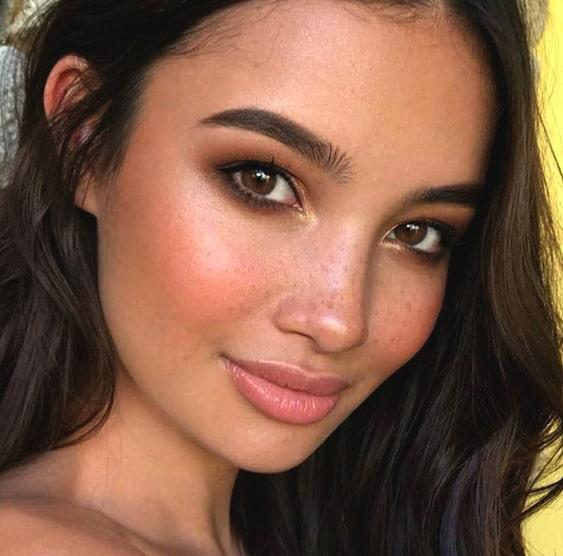 soft-brown-colored-smokey-eye-makeup-min