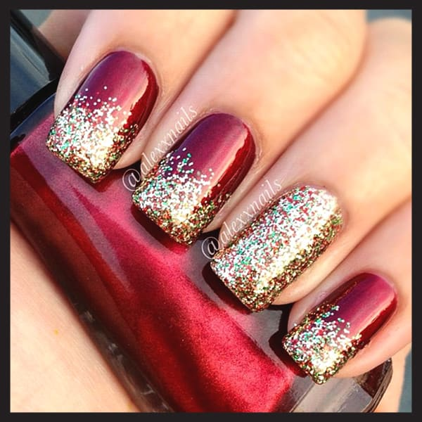 christmas-nail-art-design-ideas-red-glitter-gradient-nails-min