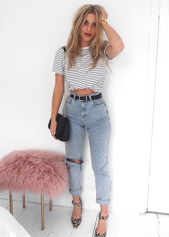 striped-black-and-white-shirt-boyfriend-jeans-outfit