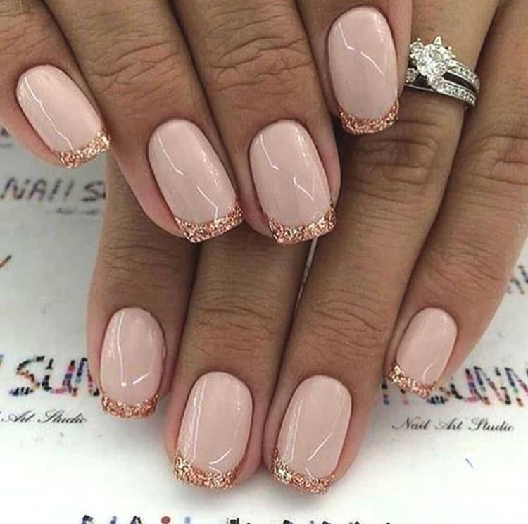 french-manicure-glittery-french-nails-min | Ecemella
