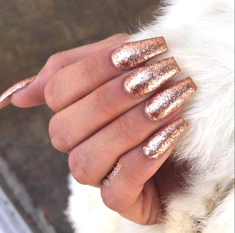 glittery-rose-gold-nail-art-coffin-nails-min