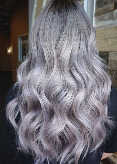 lilac-grey-hair-hairstyle-ideas-2019-min