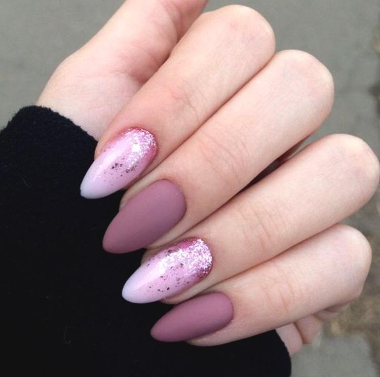 Matte Rose Gold Nail Art Design Min Ecemella