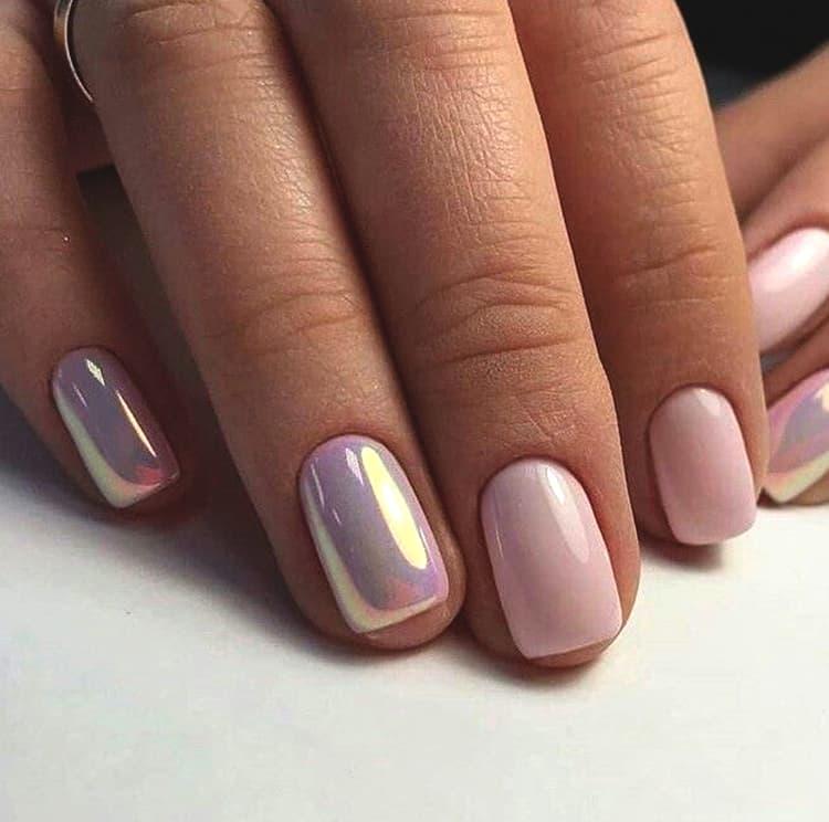 pink-rose-gold-chrome-nail-art-design-min