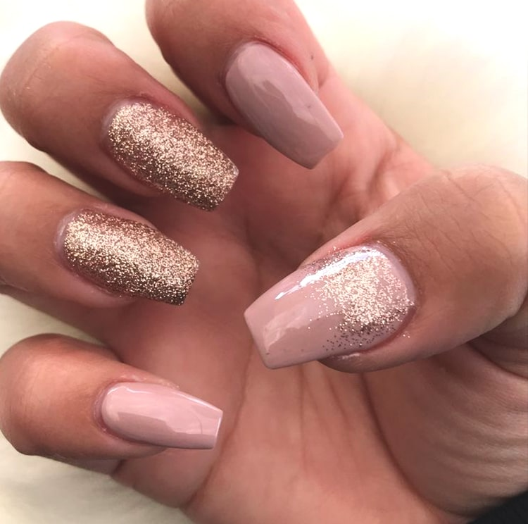 rose-gold-glittery-nude-nail-design-min