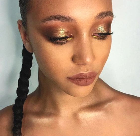 metallic-eyeshadow-makeup-ideas-for-night-out