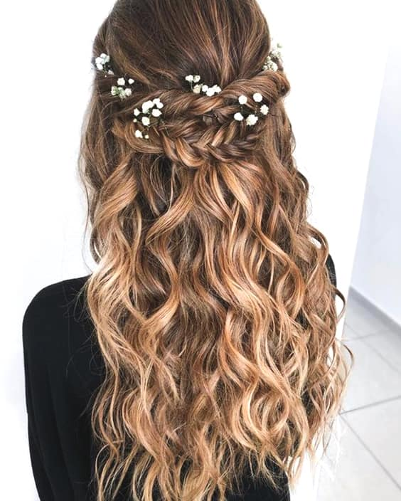Half Up Half Down Braided Wedding Hairstyles: 72 Romantic Wedding Hairstyle Trends In 2019