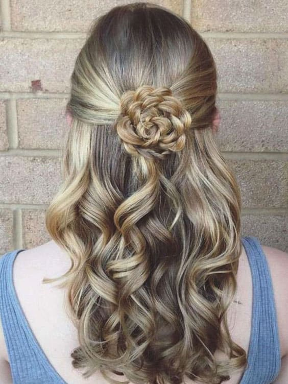 Flower Braided Hair Prom Hairstyles Min Ecemella