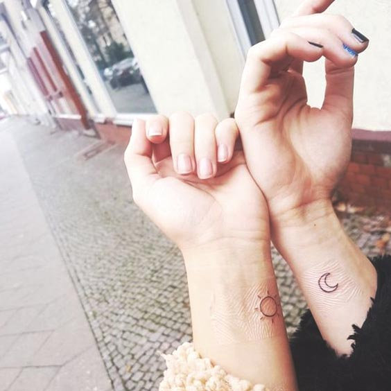 The 56 Coolest Matching BFF Tattoos That Prove Your Friendship Is Forever