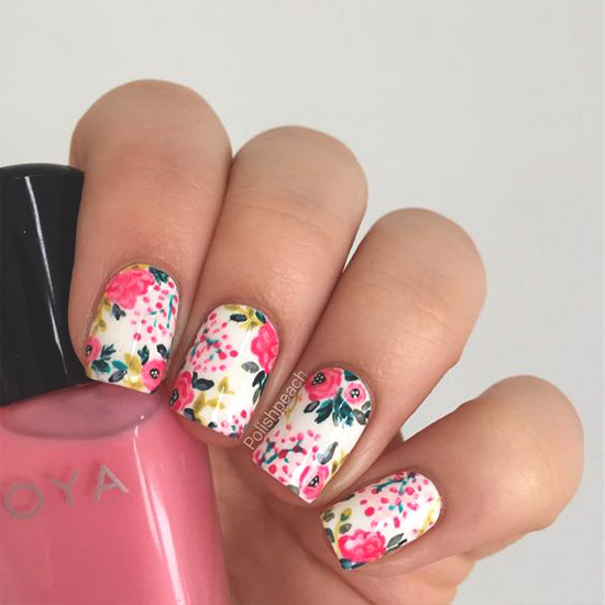Floral Nail Art: Over 50 Bright Summer Nail Art Designs That Will Be So