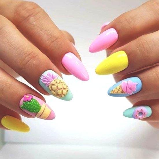 ice-cream-gel-nail-art-design | Ecemella