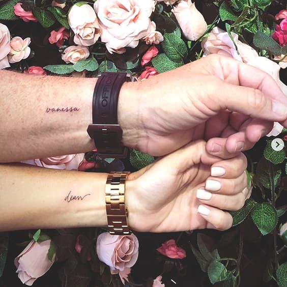 Minimal Name Tattoo Ideas Min Ecemella