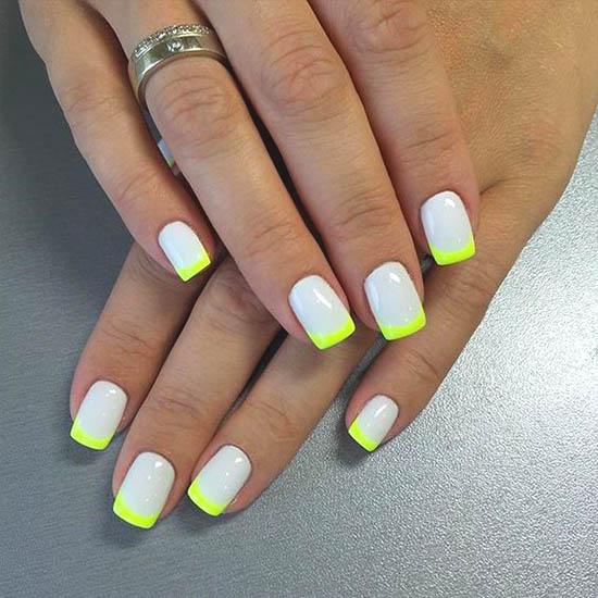 neon-french-nails-2019-nail-designs | Ecemella