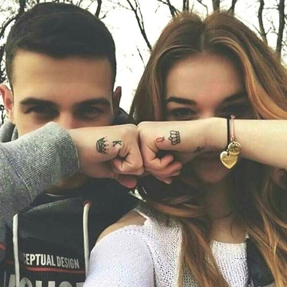 859eb9637 unique-king-queen-couple-tattoos-min | Ecemella