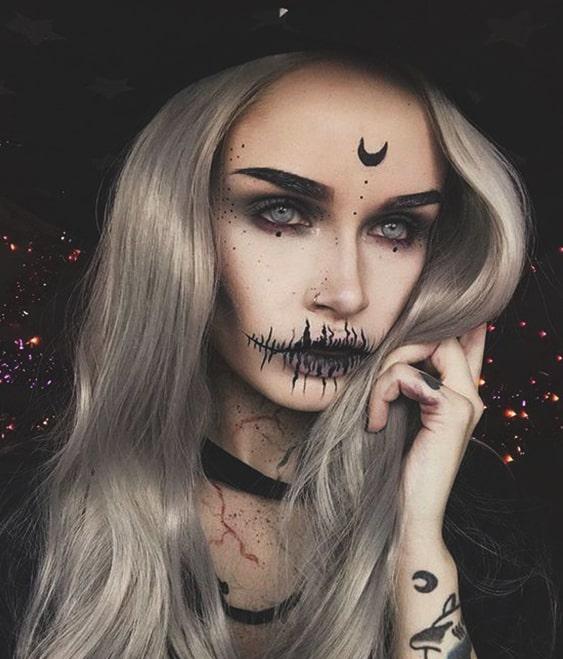 pretty-witch-makeup-halloween-makeup